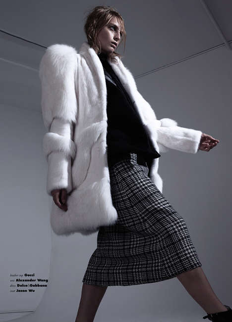 Nordic Couture Captures - The Rose Smith VISION China Fashion Feature is Fur-Clad