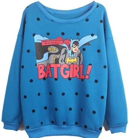 Standout Female Superhero Sweaters - This
