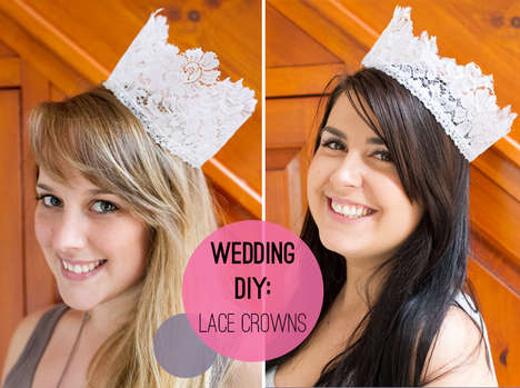 Lovely DIY Lace Crowns - These Lace Headpieces are Perfect for Weddings or Any Special Occasion