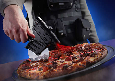 Laser Pizza Slicers - The Tactical Laser-Guided Pizza Cutter Helps to Make Perfect Pizza Slices