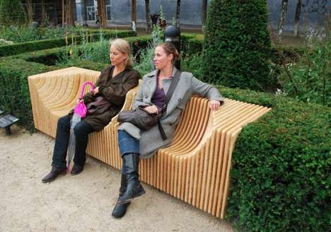 Stratified Public Seating - The Monolit Bench by Pawel Grobelny is Simple and Sculptural