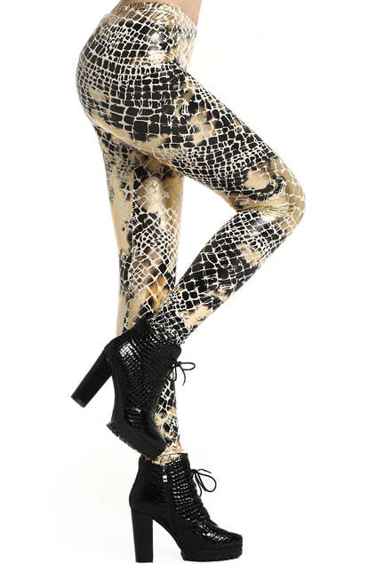 Shimmering Serpent Stockings - These Fashion Leggings from