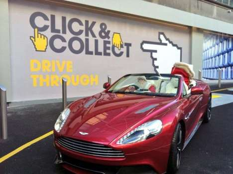 Luxury Fashion Drive-Throughs - One London-Based Department Store Created a Fashion Drive-Through