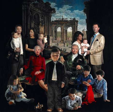 Terrifying Royal Family Portraits - Thomas Kluge's Painting of the Dutch Royal Family is Troub
