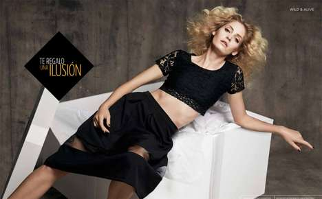 Winter Glam Fashion Ads - The El Palacio de Hierro Campaign Stars Model Heidi Mount