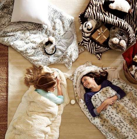 Faux Fur Sleeping Bags - Pamper Yourself at Your Next Sleepover with These Luxurious Items