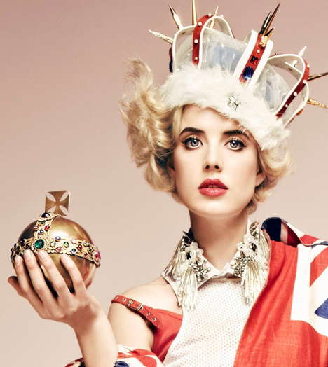 28 Regal Crown Headpieces - From Gilded Invertebrate Crowns to Inflated Crown Accessories