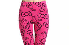 Cavity-Inducing Kitten Leggings - These Hello Kitty Leggings from Romwe Will Satisfy