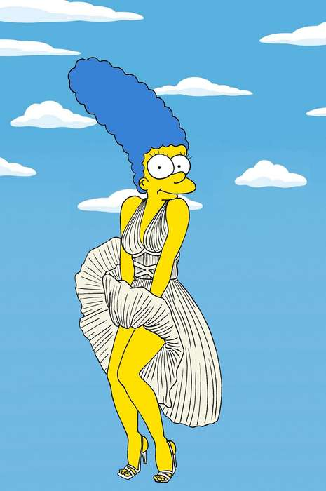 Iconic Cartoon Couture Makeovers - Alexsandro Palombo Created Marvellous Marge Simpson Model Art