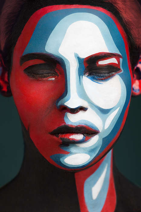Deceptively Painted Faces - 2D or Not 2D by Alexander Khokhlov is Inspired by Famous Posters