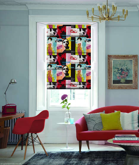 Flamboyant Pop Art Blinds - English Blinds Have Created a Line of Pop Art Inspired Blinds