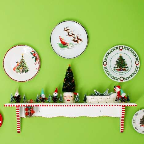 Festive Holiday Plate Decor - These DIY Christmas Plate Collages Turn Simple Dishes into Wall Art
