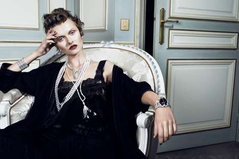 Old World Jewelry Editorials - The Gala Magazine Issue 48 Photoshoot Stars Kamila Filipcikova