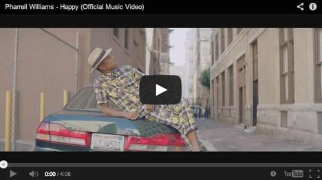 Euphoric 24-Hour Music Videos - The Pharrell Williams Happy Video Played for a Full 24 Hours