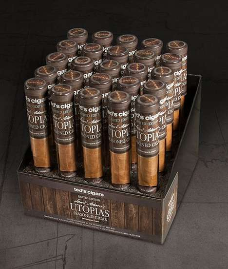Beer-Seasoned Cigars - 'Utopias' is the Perfect Beer Cigar Gift for Alcohol and Cigar En