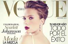 Corseted Celeb Magazine Covers - The Vogue Mexico Issue Stars Scarlett Johansson