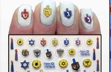 Festive Menorah Manicures - This Hanukkah Nail Art Celebrates the Traditional Holiday