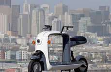 Freight-Focused Scooter Concepts - The Kubo Electric Scooter is Designed with Cargo in Mind