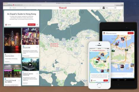 Social Pinboard Maps - Pinterest's Place Pins Help to Curate Better Travel Boards