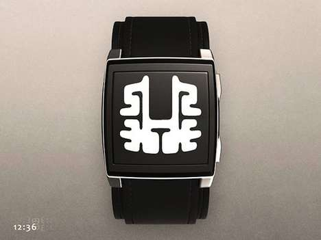 Abstract Rorschach Timekeepers - The Rorschach Tokyo Flash Watch Displays Mind-Bending Numbers