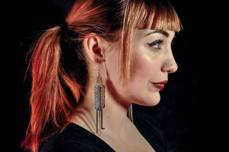 Breaking-and-Entering Accessories - Lock Pick Earrings are Designed for Fashionable Burglars