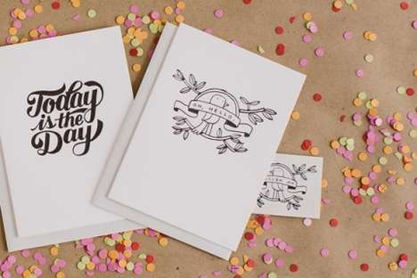 Temporary Tattoo Greeting Cards - These Tattly Temporary Tattoo Cards Come with Matching Body Art