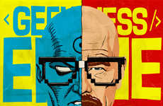 Split Villain Portraits - Butcher Billy's 'Geeky Antiheroes Unchained' Celebrates the Bad Guys