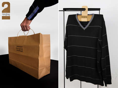 Double-Duty Shopping Bags - The Hangbag Converts into a Practical Hanger