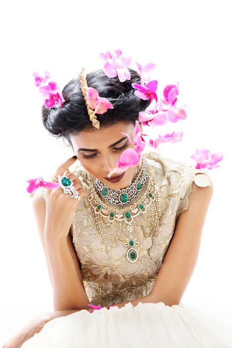 Bejeweled Bridal Fashion - The Grazia Bride November 2013 Editorial Stars Nidhi Sunil & Radhika Nair
