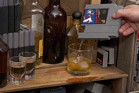 Gamer Cartridge Flasks - The Ink Whiskey Entertainment Flask Provides the Perfect Disguise