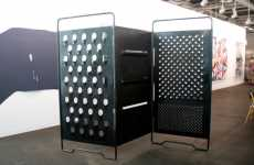 Cheese Grater Room Divider