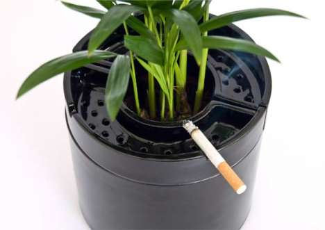 Pro-Smoking Designs - 'Ash is Ok' Ashtray Flowerpot