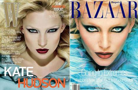 Recreating Magazine Covers - Kate Hudson on W Mimics 1994 Harper's Bazaar