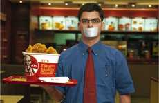 Easily Misinterpreted Ads - KFC Waiters With Mouths Taped