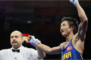 China Boxer Zou Shiming for Nike