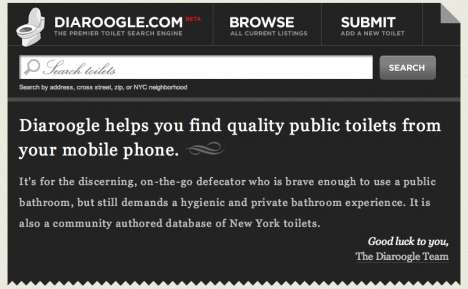 Public Toilet Search Engine - Diaroogle.com for Your Urgent Needs