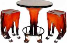 Animal Leg Furniture - Horse Leg Table and Chairs