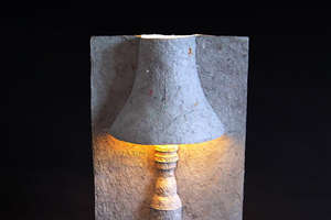 The Paper Pulp Lamp by David Gardener