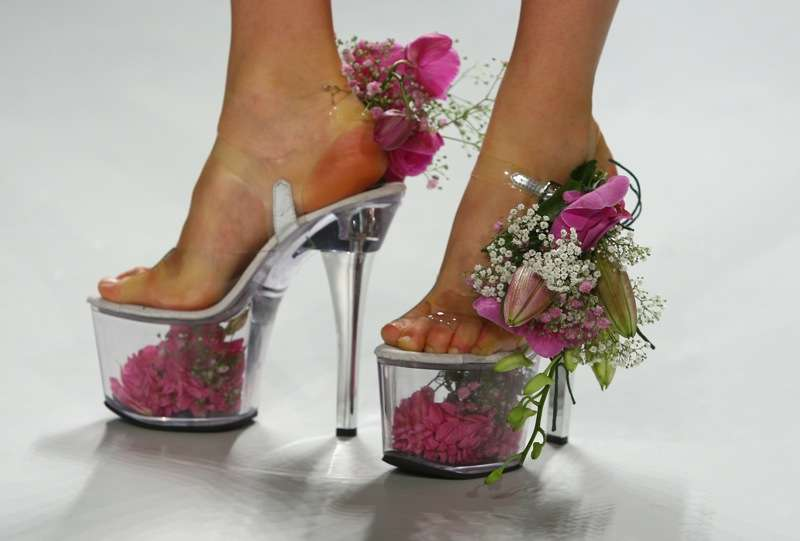 Platform Shoes as Flower Vases