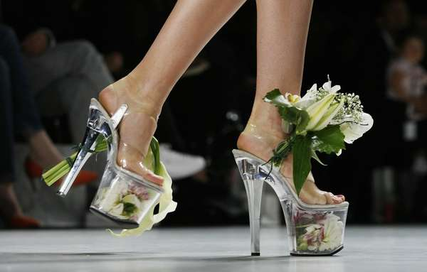 Platform Shoes as Flower Vases 3