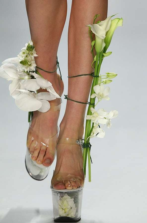 Platform Shoes as Flower Vases 5
