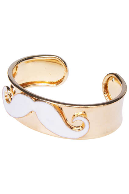 Feminized Facial Hair Jewelry - This Mustache Cuff Bracelet Lets Ladies Show Their Movember Spirit