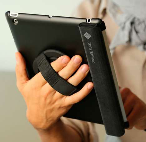 Grip-Enhancing Tablet Wraps - This Tablet Case Can Be Used as a Handle, Stand and Wrap