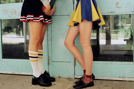12 Racy Cheerleader Styles - From Adolescent Girl Photography to School Spirit Pumps