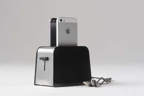 Deceptive Toaster Smartphone Chargers - Charge Your iPhone 5 Inside the Foaster Wireless Toaster