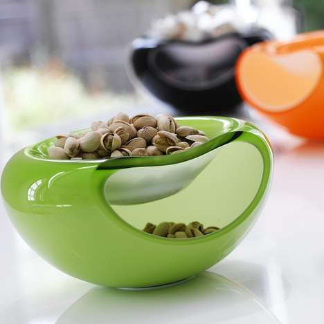 Dual-Level Dipping Bowls - These Dipping Bowls Become More Efficient with Two Levels