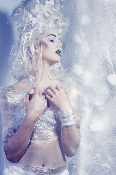 Ethereal Bubble Wrap Editorials - Ice Queen by Marlot Haagsma is Straight Out of a Child