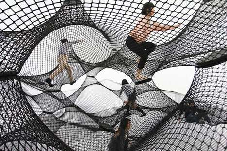 Inflatable Interactive Installations - Net Blow-up Yokohama by Numen/For Use is Like a Large Web