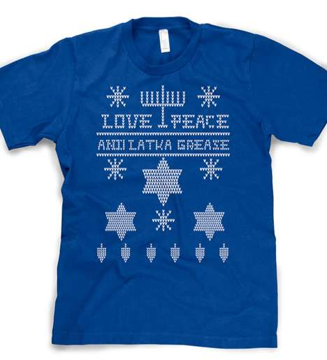 Gratifying Latke Garments - This Hanukkah T-Shirt Encourages More Latke Eating