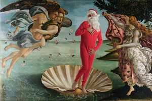 'Santa Classics' Infuses Saint Nick into Famous Paintings